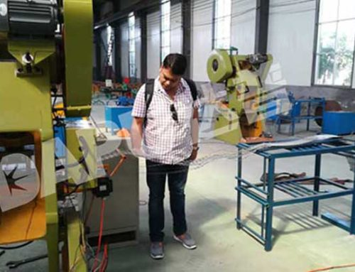 Indian friend visited our factory for concertina razor wire machine