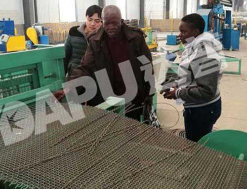 Uganda customers checked crimped wire mesh machine